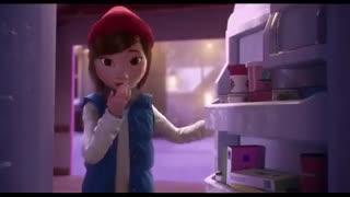 انیمیشن کوتاه  و فوق العاده لی لی و آدم برفی