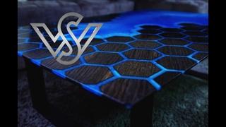 ساخت میز فوق العاده زیبا با رزین و چوب