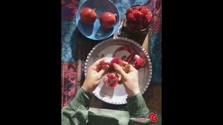 گل کردن انار برای شب یلدا