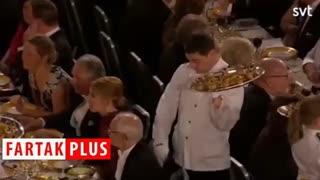 سوتی بامزه گارسون در مراسم اهدای جایزه نوبل