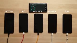باتری کدام گوشی پرچمدار سریعتر شارژ میشود؟OnePlus 6T McLaren vs Mate 20 Pro vs Note 9 vs Pixel 3XL !