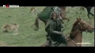 ارباب حلقهها قسمت دوم، سکانس نبرد با گرگ های آیزنگارد و ناپدید شدن آراگورن