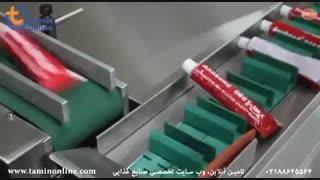 خط بسته بندی و کارتن گذار محصولات تیوپی