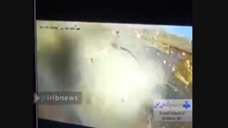 ترکیدن مخزن گاز سواری پژو پارس در جایگاه CNG سربیشه