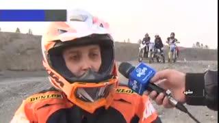 اشتیاق بانوان مشهدی به تمرینات موتورسواری