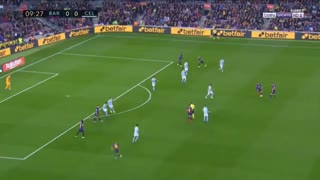 گل اول بارسلونا به سلتاویگو توسط دمبله