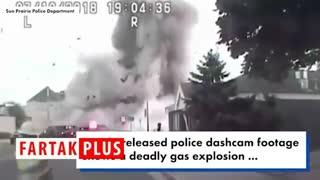 لحظه انفجار مرگبار لوله گاز