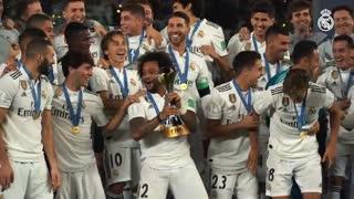 مراسم اهدای مدال و جشن قهرمانی رئال مادرید در جام جهانی باشگاهها