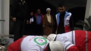 مانور آموزشی زلزله توسط هلال احمر در حوزه علمیه شهید بهشتی نوشهر