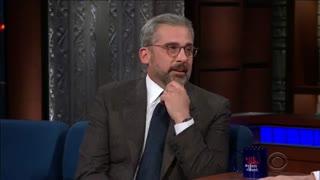 حضور Steve Carell در تاک شوی Stephen Colbert