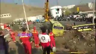 7 کشته و 28 مجروح در واژگونی اتوبوس در دانشگاه علوم و تحقیقات