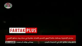 مقابله پدافند هوایی ارتش سوریه با موشکهای رژیم صهیونیستی