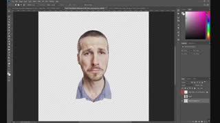 آموزش چند تکه کردن صورت در فتوشاپ
