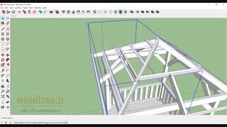 آموزش طراحی آلاچیق با اسکچاپ - قسمت 6
