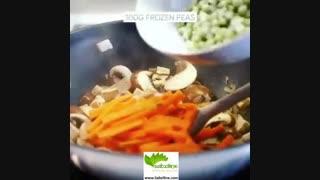 غذای خوشمزه، سریع و پر از پروتئین چینی  - سبزی لاین