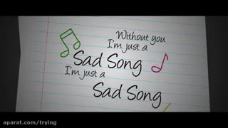 We The Kings - Sad Song (Lyric Video)