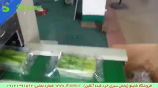 دستگاه بسته بندی سبزی خرد شده   فروشگاه شاینو شماره تماس: 09121391592