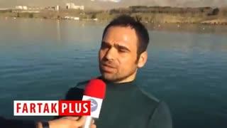 استفاده از چسب نواری برای جلوگیری از ورود آب به داخل قایق ملی پوشان! + فیلم