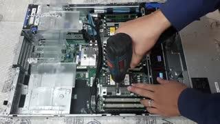 آموزش اسمبل و دی اسمبل HPE Heatsink G10 روی سرور HPE DL380 G10