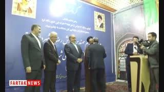 اهدا ء حکم دکتر سعید طلوعی توسط مهندس بازوند استاندار کرمانشاه