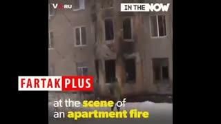 نجات یک گربه توسط آتش نشانان با تنفس مصنوعی