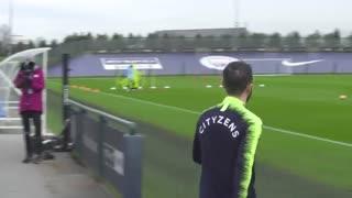 آخرین تمرین منچسترسیتی پیش از بازی با لیورپول