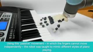 نخستین دست روباتیک ساخته شده با چاپگر سه بعدی که پیانو میزند
