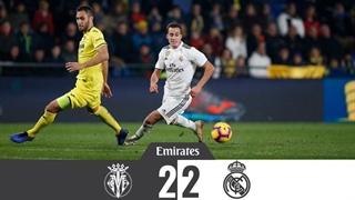 خلاصه بازی ویارئال 2_2 رئال مادرید (هفتۀ هفدهم لالیگا اسپانیا)