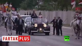 لگدپرانی اسب در مراسم معارفه آقای رئیسجمهور