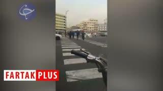 اقدام زیبا و خداپسندانه یک پلیس در میدان انقلاب