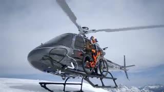 دوچرخه سواری فوق حرفه ای در پیست اسکی