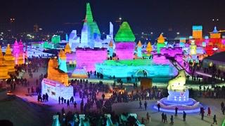 فستیوال یخ های رنگی در شهر هاربین چین
