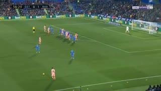 گل دوم بارسلونا به ختافه توسط سوارز