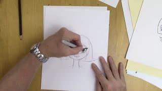 استفاده از خط مرکزی و خط چشم در طراحی چهره کارتونی