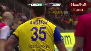 دیدار دوستانه تیم های ملی هندبال سوئد و روسیه