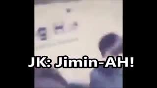 جوری که جونگ کوک هیونگشو(جیمین) صدا میزنه ...