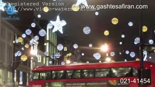 چراغانی خیابان اکسفورد لندن در کریسمس