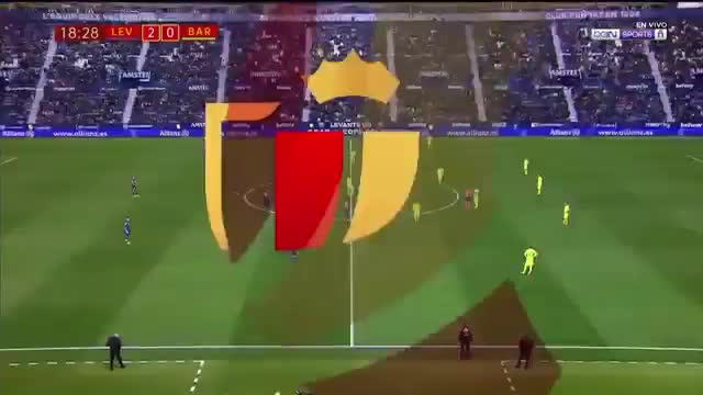 خلاصه دیدار لوانته 2_1 بارسلونا (بازی رفت مرحلۀ یک هشتم نهایی کوپادلری)