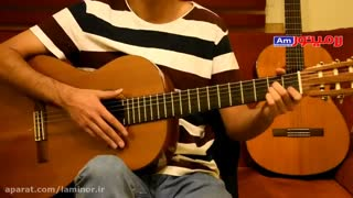 آموزش گیتار پاپ ( آموزش ریتم 4/4 رومبا در آهنگ سفر فرامرز اصلانی)