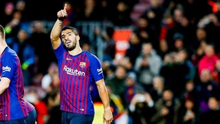 گل اول بارسلونا به ایبار توسط سوارز