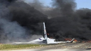 اولین ویدئوها از محل سقوط هواپیما در شهرک مسکونی