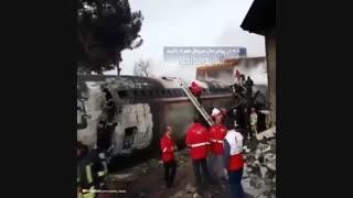 فیلم سقوط هواپیما در کرج