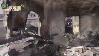 فیلم محل حادثه هواپیما در کرج