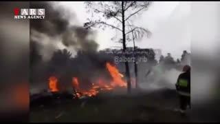 فوری : سقوط هواپیمای بوئینگ ۷۰۷ قرقیزستان اطراف کرج