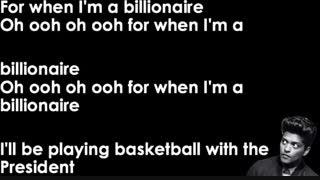 Lyrics - Bruno Mars Billionaire + دنبال شه لطفا