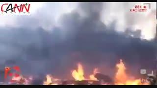 لحظه نجات تنها سرنشین زنده هواپیما بعد از سقوط در نزدیک کرج