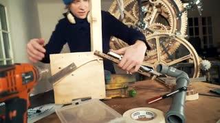 ساخت ماشین تیله ای ورژن ایکس -قسمت Vibraphone Movement Test  - Marble Machine X #64