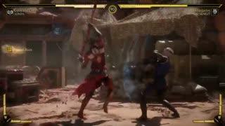 ویدیو مبارزه شخصیتهای سونیا و اسکارلت در بازی Mortal Kombat 11 - بازیمگ