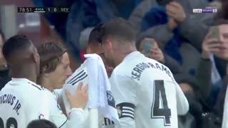 خلاصه دیدار رئال مادرید 2_0 سویا ( هفته بیستم لالیگا)