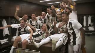 جشن قهرمانی یوونتوس در سوپر جام ایتالیا